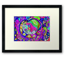 Swirlie Clouds of Brilliant Color Framed Print