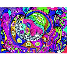 Swirlie Clouds of Brilliant Color Photographic Print