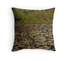 Lilies, Jubilee Lake, Daylesford Throw Pillow