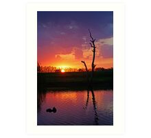 Elmore Sunset Art Print