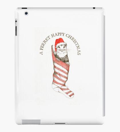 Festive Ferret iPad Case/Skin