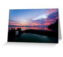 Tagbilaran City Sunset Greeting Card
