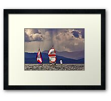 Sailing off Mull Framed Print