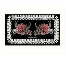 Necora puber - Mediterranean crab Art Print