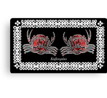 Necora puber - Mediterranean crab Canvas Print