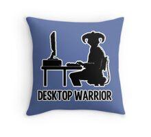 Desktop Warrior Throw Pillow