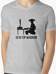 Desktop Warrior Mens V-Neck T-Shirt