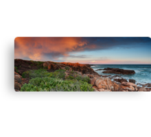 Boat Harbour Sunset - Panorama Canvas Print