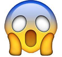 Shocked/Scared Emoji Sticker by youtubemugs