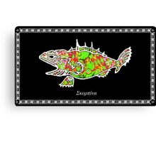 Scorpaena scrofa -  Red Scorpionfish Canvas Print