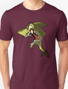 Angry green shark with shading T-Shirt