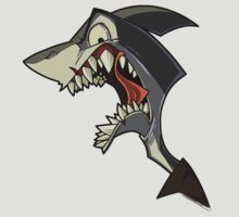 Angry grey shark with shading by Enikő Tóth