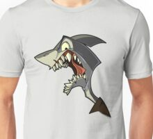 Angry grey shark with shading Unisex T-Shirt