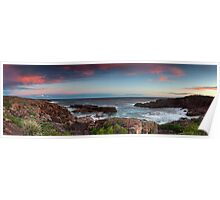 Boat Harbour Sunset 2 - Panorama Poster