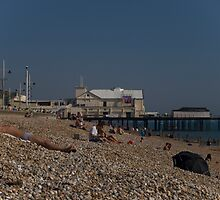 Bognor Regis beach, West Sussex, England, October by David Brown