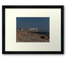 Bognor Regis beach, West Sussex, England, October Framed Print