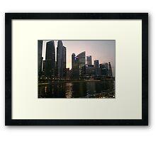 Marina Bay,Singapore  Framed Print