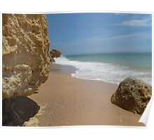 """Atlantic End""  West Coast of Albufeira, Portugal Poster"