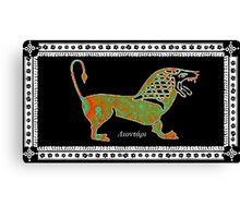 Greek Lion Canvas Print