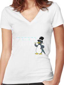 Iceberg Lounge  Women's Fitted V-Neck T-Shirt