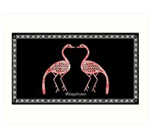 Greek Flamingo Art Print