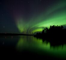 Aurora Reflection by Don Arsenault