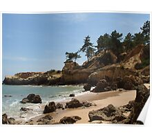 """Rock Shore""  West Coast of Albufeira, Portugal Poster"