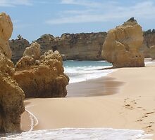 """Pure Beach""  West Coast of Albufeira, Portugal by Anita  Fletcher"