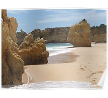 """Pure Beach""  West Coast of Albufeira, Portugal Poster"