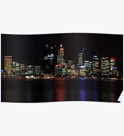 Perth CBD @ Night Poster