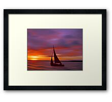 Sailing off into the Sun Framed Print