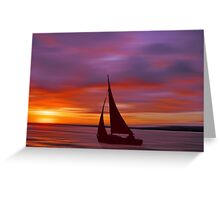 Sailing off into the Sun Greeting Card