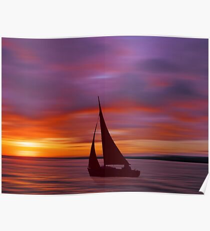 Sailing off into the Sun Poster