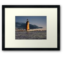 Ram Island Ledge Portland Maine Framed Print
