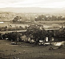 Old Railway Bridge, Dusk—Bushy Park, Tasmania by Brett Rogers