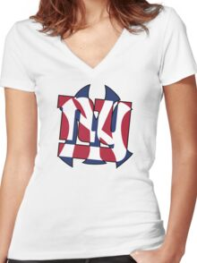 New York Sports teams Women's Fitted V-Neck T-Shirt