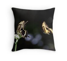Mating Dance Begins Throw Pillow