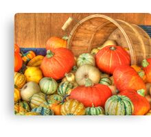Harvest Basket Canvas Print