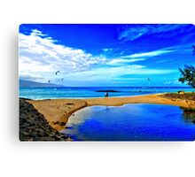 Lovers At Kanaha Beach Canvas Print