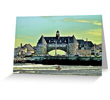 Narragansett Pier Beach - The Towers *featured Greeting Card