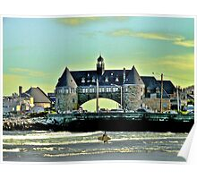 Narragansett Pier Beach - The Towers *featured Poster