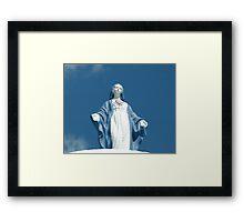 Sacred Heart Virgin Mary Statue Framed Print