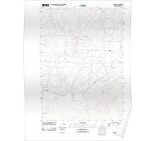 USGS Topo Map Oregon Alfalfa 20110826 TM Poster