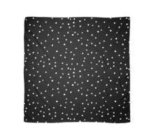 White Polka Dots on Black Scarf