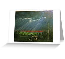 DOLMEN IN LIGHT RAYS  Greeting Card