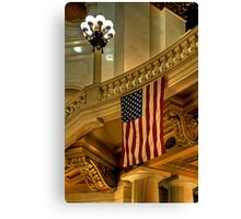 And The Home Of The Brave Canvas Print