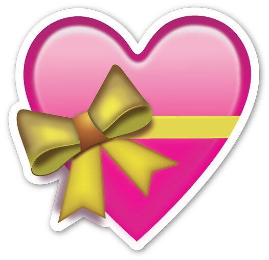 """X Bow Emoji """"Heart Bow Emoji ..."""