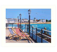 Pier days and Matinees Art Print