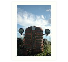 Mr Gibbs old tractor Art Print