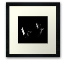 Working in the Dark Framed Print